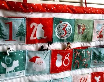RARE Winter Wonderland Advent Calendar // Quilted Christmas Advent Calendar // Hanging Advent Calendar // Festive calendar