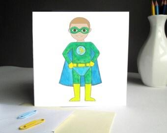 I am Unique - Personalised Children's Birthday Card- Superhero