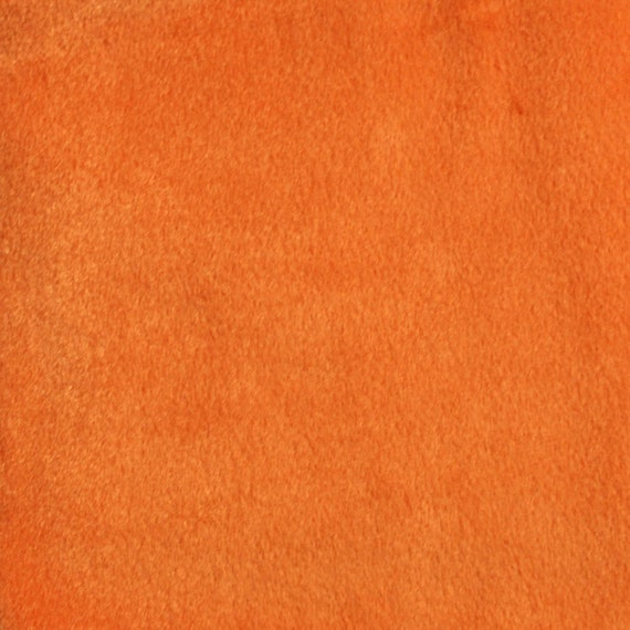 Orange Solid Velboa Faux Fur Short Pile Fabric Sold By The