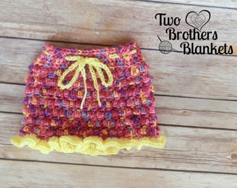 Instant Download- Crochet Pattern- Little Textures Baby Skirt