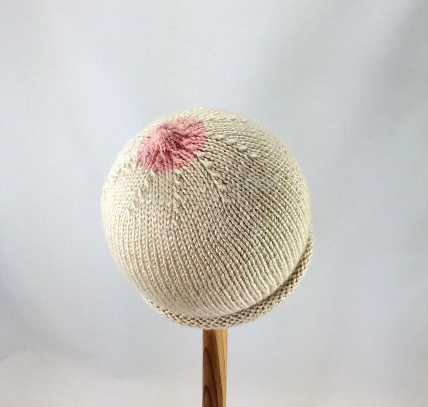 Nipple hat boob hat nursing baby hat knitted boobie hat