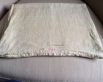 Antique Homespun Linen Bolster Case