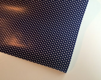 Navy and White Polka Dot  Wrapping Paper 30 inches x  12 feet