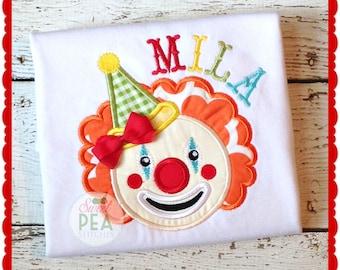 Birthday Shirt - Girls Circus Shirt - Boys Circus Shirt - Clown Shirt - Carniavl Birthday - Circus Theme Birthday - Embroidered Shirt