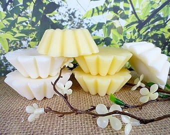 Beeswax Tarts Set of 3 Natural Hand-Poured Beeswax Choose Yellow Beeswax Or White Highly Scented Tarts Flameless Candle PureAndSimpleCandles