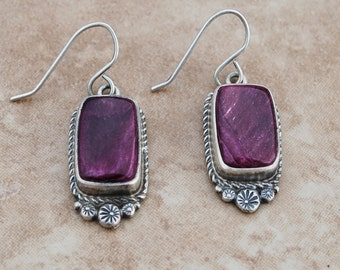 Native American Spiney Oyster earrings