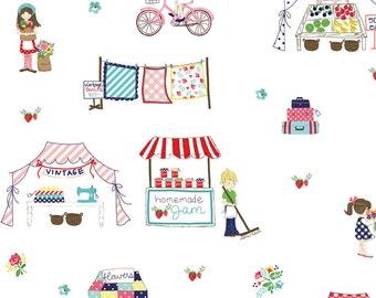 1 yard Vintage Market by Tasha Noel for Riley Blake Main White