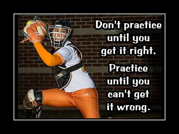 Items Similar To Softball Motivation Catcher Photo Quote