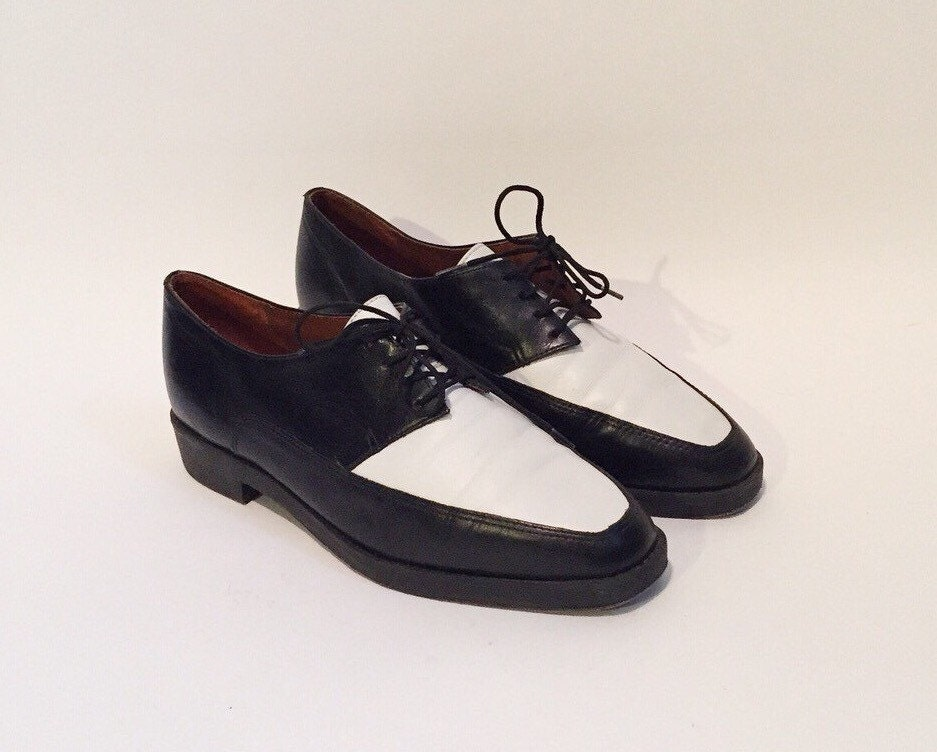 black white shoes oxfords 6 saddle shoes womens shoes