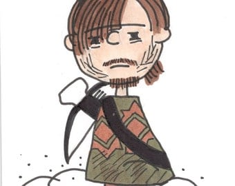 Pigpen Daryl Dixon Walking Dead Art Card 3x5""