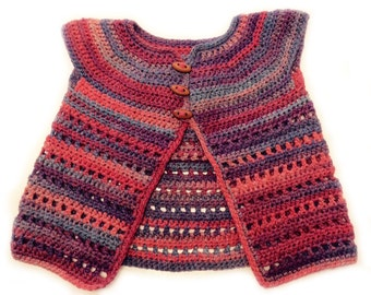 Martha Crochet Toddler Jacket
