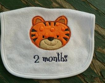 Baby Bib - with Applique Tiger