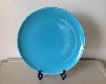 Vintage Turquoise Platter Poppytrail by Metlox, MidCentury California Pottery, Turquoise Pottery Plate