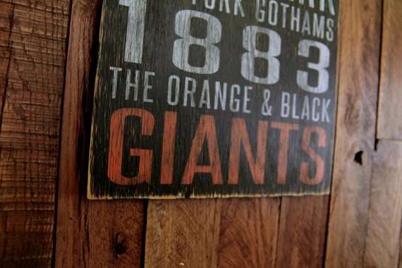 San Francisco Giants Distressed Wood Sign-Great Father's Day Gift!