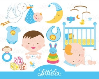 Baby boy clipart - baby clipart - 15017