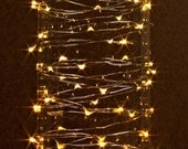 20 ft. LED Battery Lights Warm White Dew Drop Fairy Lights with Timer Feature Ready to Ship!!