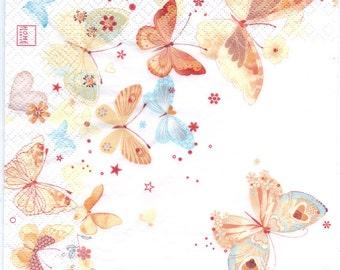 Decoupage Napkins | Darling Butterflies  | Paper Napkins for Decoupage