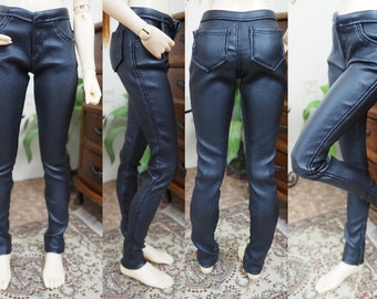 Kawkana - Realistic, Waxed Stretch Pants with Pockets for MSD, MNF, JID, other 1/4 bjd
