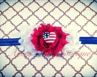 Fourth of July Headband, Baby Fourth of July Headband, Girl 4th of July Headband, 4th of July Headband, Patriotic Headband