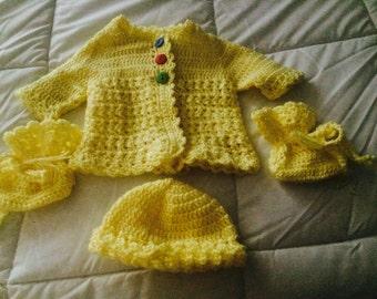 Beautiful Hand Crocheted Baby Layette