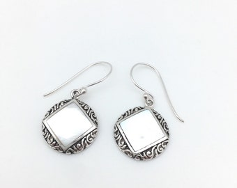 Mother of Pearl Square Dangle