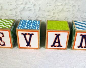 Personalized Wooden Name Blocks, Wooden Name blocks, wooden letter blocks, personalized name blocks, nursery block