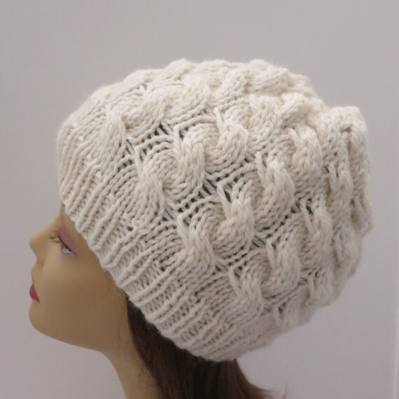 Hat Knitting Pattern, Tam, Beanie, Winter Hat, Worsted ...