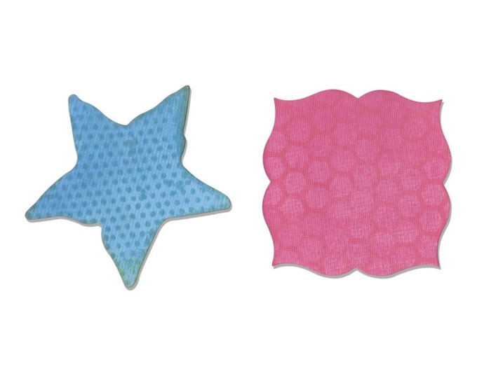 New! Sizzix Movers and Shapers Magnetic Die Set 2PK - Label & Starfish by Sharyn Sowell