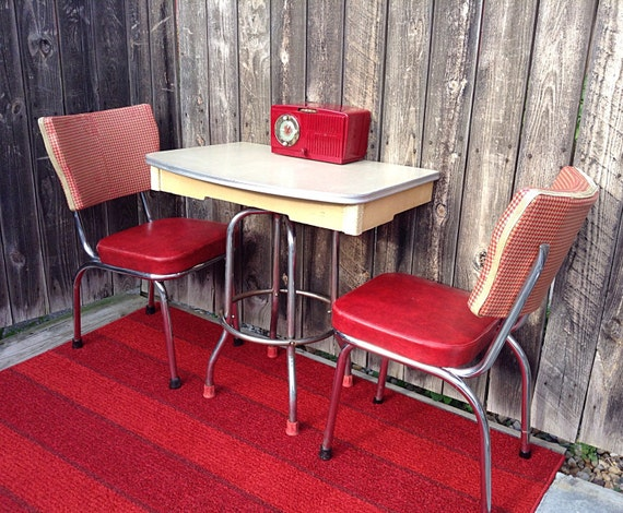 Refurbished 1940 S Tan Formica Half Table Or Retro Kitchen