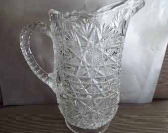 Imperial glass pitcher creamer pressed glass EAPG