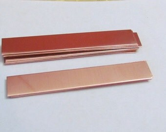3/8  x 2 1/2  -  Rectangle blanks  - Hand stamping ring blanks - Copper Blanks- Metal blanks - jewelry blanks - supplies - findings