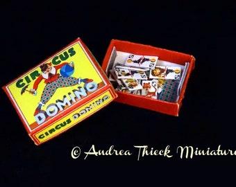 Circus Theme - Circus Domino - Artisan Handmade Miniature 1:12 scale