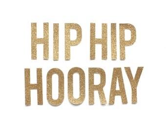 Hip Hip Hooray Glitter Banner