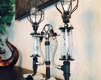 Vintage Industrial Tripod Lamp