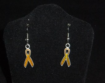 Yellow Ribbon Earrings