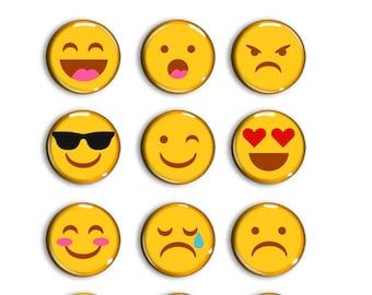 Emoticon Magnet - Emoticon Magnets - Refrigerator Magnets - Refrigerator Magnets - Fridge Magnet - Fridge Magnets - Smiley Face Magnet