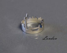 London Baby Statement Ring Sterling Silver Hand Sawn London City Skyline Modern Interpretation of the view Metropolis Architecture Theme