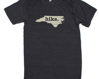 North Carolina Hike Mens Unisex T-Shirt by Home State Apparel