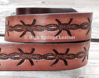 Kids barbed wire name belt