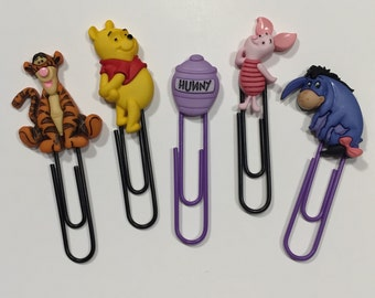 Winnie the Pooh bookmarks, Pooh bookmarks, Pooh Bear Bookmarks, Piglet bookmarks, Eeyore Bookmarks, Tigger Bookmarks (sold individually)