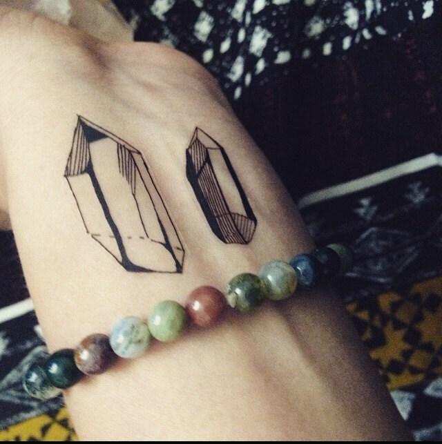 Set Of 4 Crystal Temporary Tattoos Small