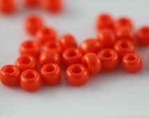 TOHO Seed Bead 6/0 ~ Opaque Sunset Orange ~ 8 Grams (TR-06-50) J-4