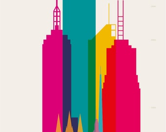Shapes of Melbourne art print