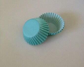 Mini Aqua / Blue Cupcake Liners