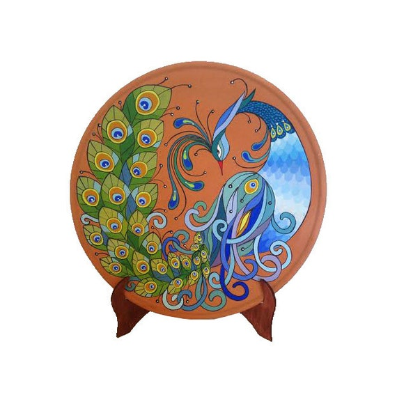 Decorative plate Peacock Peacock decor wall