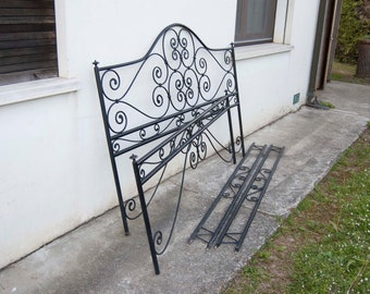 Handcrafted wrought iron bed 1977-78