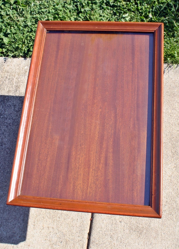 Antique mahogany side or small pedestal coffee by for Coffee table with removable glass top