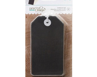 American Crafts DIY Shop Chalkboard Tags, Set of 12