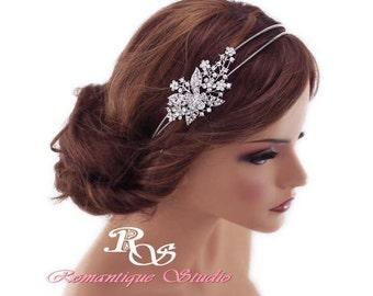 Crystal Bridal Headband Wedding headpiece wedding headband rhinestone headband crystal headpiece vintage style bridal hair accessories 3132