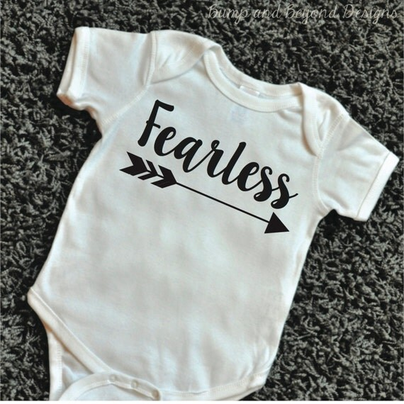 Items similar to Hipster Baby Clothes Fearless Shirt Baby ... - photo#7